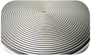 spiral grooved lapping plates